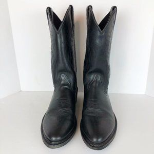 Justin Boots Ropers Men's Black Size 10D *FLAW*